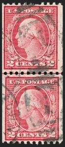 Sale Number 1206, Lot Number 478, 1913-15 Washington-Franklin Issues (Scott 424-461)2c Carmine, Ty. III, Coil (450), 2c Carmine, Ty. III, Coil (450)