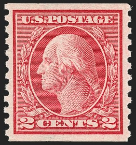 Sale Number 1206, Lot Number 482, 1913-15 Washington-Franklin Issues (Scott 424-461)2c Carmine Rose, Ty. I, Coil (453), 2c Carmine Rose, Ty. I, Coil (453)