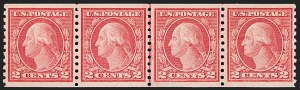 Sale Number 1206, Lot Number 484, 1913-15 Washington-Franklin Issues (Scott 424-461)2c Red, Ty. II, Coil (454), 2c Red, Ty. II, Coil (454)