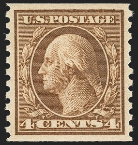 Sale Number 1206, Lot Number 489, 1913-15 Washington-Franklin Issues (Scott 424-461)4c Brown, Coil (457), 4c Brown, Coil (457)