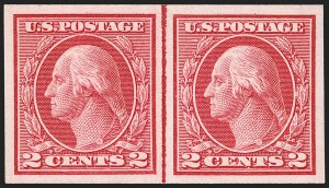 Sale Number 1206, Lot Number 490, 1913-15 Washington-Franklin Issues (Scott 424-461)2c Carmine, Ty. I, Imperforate Coil (459), 2c Carmine, Ty. I, Imperforate Coil (459)