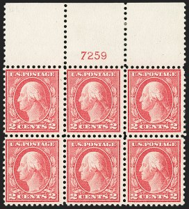 Sale Number 1206, Lot Number 494, 1913-15 Washington-Franklin Issues (Scott 424-461)2c Pale Carmine Red, Ty. I (461), 2c Pale Carmine Red, Ty. I (461)