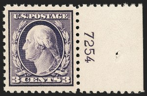 Sale Number 1206, Lot Number 495, 1916-17 Issues (Scott 462-480)3c Violet (464), 3c Violet (464)