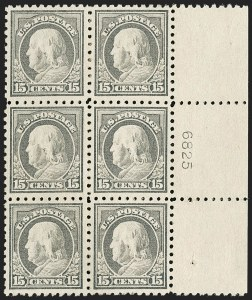 Sale Number 1206, Lot Number 504, 1916-17 Issues (Scott 462-480)15c Gray (475), 15c Gray (475)
