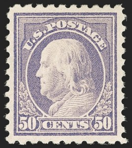 Sale Number 1206, Lot Number 506, 1916-17 Issues (Scott 462-480)50c Light Violet (477), 50c Light Violet (477)