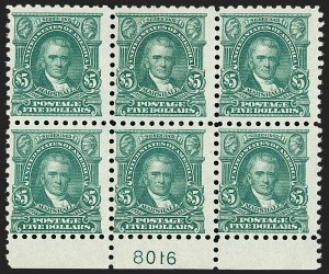 Sale Number 1206, Lot Number 508, 1916-17 Issues (Scott 462-480)$5.00 Light Green (480), $5.00 Light Green (480)