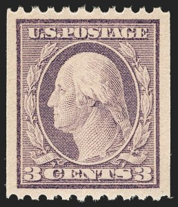 Sale Number 1206, Lot Number 511, 1917-19 Issues (Scott 481-524)3c Violet, Ty. I, Coil (489), 3c Violet, Ty. I, Coil (489)