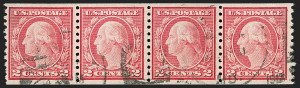 Sale Number 1206, Lot Number 514, 1917-19 Issues (Scott 481-524)2c Carmine, Ty. II, Coil (491), 2c Carmine, Ty. II, Coil (491)