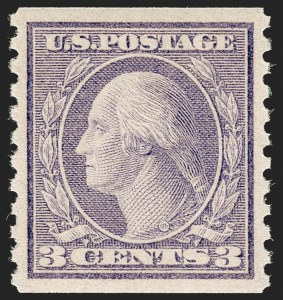 Sale Number 1206, Lot Number 516, 1917-19 Issues (Scott 481-524)3c Violet, Ty. II, Coil (494), 3c Violet, Ty. II, Coil (494)
