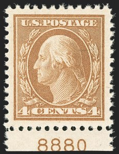 Sale Number 1206, Lot Number 524, 1917-19 Issues (Scott 481-524)4c Brown (503), 4c Brown (503)