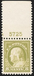 Sale Number 1206, Lot Number 530, 1917-19 Issues (Scott 481-524)8c Olive Bister (508), 8c Olive Bister (508)