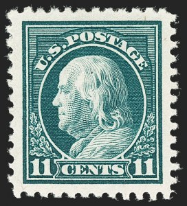 Sale Number 1206, Lot Number 533, 1917-19 Issues (Scott 481-524)11c Light Green (511), 11c Light Green (511)