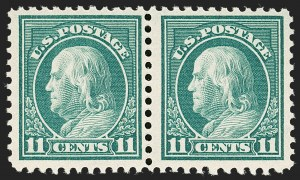 Sale Number 1206, Lot Number 534, 1917-19 Issues (Scott 481-524)11c Light Green, Perf 10 at Bottom (511a), 11c Light Green, Perf 10 at Bottom (511a)