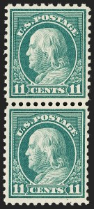 Sale Number 1206, Lot Number 535, 1917-19 Issues (Scott 481-524)11c Light Green, Perf 10 at Top (511a), 11c Light Green, Perf 10 at Top (511a)