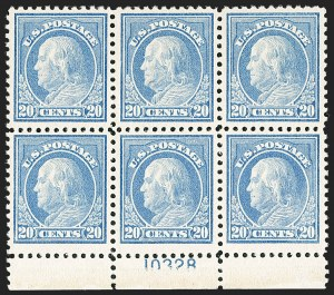 Sale Number 1206, Lot Number 538, 1917-19 Issues (Scott 481-524)20c Light Ultramarine (515), 20c Light Ultramarine (515)