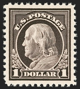 Sale Number 1206, Lot Number 542, 1917-19 Issues (Scott 481-524)$1.00 Violet Brown (518), $1.00 Violet Brown (518)