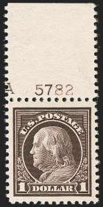 Sale Number 1206, Lot Number 543, 1917-19 Issues (Scott 481-524)$1.00 Violet Brown (518), $1.00 Violet Brown (518)
