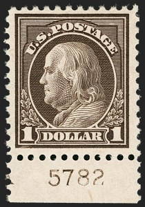 Sale Number 1206, Lot Number 546, 1917-19 Issues (Scott 481-524)$1.00 Deep Brown (518b), $1.00 Deep Brown (518b)