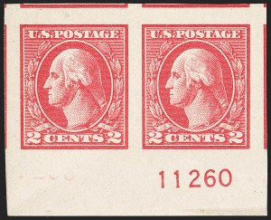 Sale Number 1206, Lot Number 562, 1918-20 Offset Printing Issues (Scott 525-536)2c Carmine, Ty. V, Imperforate (533), 2c Carmine, Ty. V, Imperforate (533)