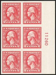 Sale Number 1206, Lot Number 566, 1918-20 Offset Printing Issues (Scott 525-536)2c Carmine, Ty. V, Imperforate (533), 2c Carmine, Ty. V, Imperforate (533)