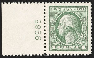 Sale Number 1206, Lot Number 575, 1918-20 Offset Printing Issues (Scott 525-536)1c Gray Green (536), 1c Gray Green (536)