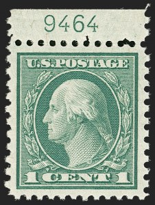 Sale Number 1206, Lot Number 576, 1919-20 Issues (Scott 537-550)1c Green, Rotary Perf 11 x 10 (538), 1c Green, Rotary Perf 11 x 10 (538)