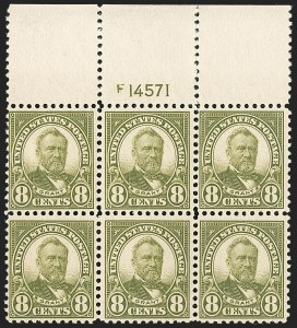 Sale Number 1206, Lot Number 583, 1922-29 Issues (Scott 551-621)8c Olive Green (560), 8c Olive Green (560)