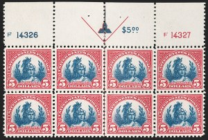 Sale Number 1206, Lot Number 596, 1922-29 Issues (Scott 551-621)$5.00 Carmine & Blue (573), $5.00 Carmine & Blue (573)