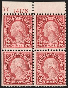 Sale Number 1206, Lot Number 605, 1922-29 Issues (Scott 551-621)2c Carmine, Rotary, Perf 11 (595), 2c Carmine, Rotary, Perf 11 (595)