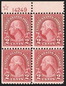 Sale Number 1206, Lot Number 606, 1922-29 Issues (Scott 551-621)2c Carmine, Rotary, Perf 11 (595), 2c Carmine, Rotary, Perf 11 (595)