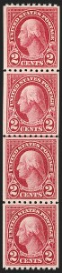 Sale Number 1206, Lot Number 613, 1922-29 Issues (Scott 551-621)2c Carmine Lake, Coil (606a), 2c Carmine Lake, Coil (606a)