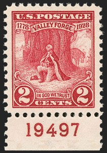 Sale Number 1206, Lot Number 625, 1925 and Later Issues (Scott 628-849)2c Valley Forge (645), 2c Valley Forge (645)