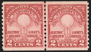 Sale Number 1206, Lot Number 628, 1925 and Later Issues (Scott 628-849)2c Edison, Coil (656), 2c Edison, Coil (656)