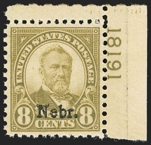 Sale Number 1206, Lot Number 630, 1925 and Later Issues (Scott 628-849)8c Nebr. Ovpt. (677), 8c Nebr. Ovpt. (677)