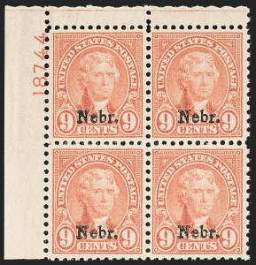 Sale Number 1206, Lot Number 631, 1925 and Later Issues (Scott 628-849)9c Nebr. Ovpt. (678), 9c Nebr. Ovpt. (678)