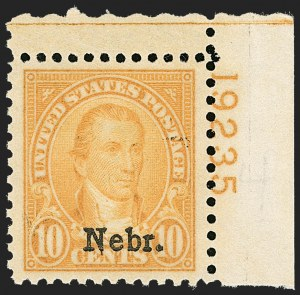 Sale Number 1206, Lot Number 632, 1925 and Later Issues (Scott 628-849)10c Nebr. Ovpt. (679), 10c Nebr. Ovpt. (679)