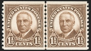 Sale Number 1206, Lot Number 633, 1925 and Later Issues (Scott 628-849)1-1/2c Brown, Coil (686), 1-1/2c Brown, Coil (686)