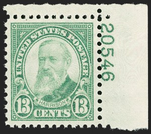 Sale Number 1206, Lot Number 634, 1925 and Later Issues (Scott 628-849)13c Yellow Green (694), 13c Yellow Green (694)