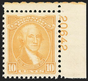 Sale Number 1206, Lot Number 640, 1925 and Later Issues (Scott 628-849)10c Washington Bicentennial (715), 10c Washington Bicentennial (715)