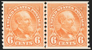 Sale Number 1206, Lot Number 642, 1925 and Later Issues (Scott 628-849)6c Deep Orange, Coil (723), 6c Deep Orange, Coil (723)