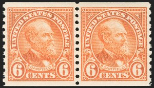 Sale Number 1206, Lot Number 643, 1925 and Later Issues (Scott 628-849)6c Deep Orange, Coil (723), 6c Deep Orange, Coil (723)