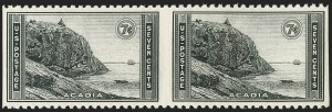 Sale Number 1206, Lot Number 644, 1925 and Later Issues (Scott 628-849)7c Acadia Park, Horizontal Pair, Imperforate Vertically (746a), 7c Acadia Park, Horizontal Pair, Imperforate Vertically (746a)