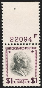 Sale Number 1206, Lot Number 646, 1925 and Later Issues (Scott 628-849)$1.00 Presidential (832), $1.00 Presidential (832)