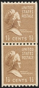 Sale Number 1206, Lot Number 648, 1925 and Later Issues (Scott 628-849)1-1/2c Bister Brown, Presidential Coil (849), 1-1/2c Bister Brown, Presidential Coil (849)