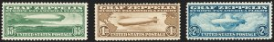 Sale Number 1206, Lot Number 673, Air Post, continued (C13-C23a)65c-$2.60 Graf Zeppelin (C13-C15), 65c-$2.60 Graf Zeppelin (C13-C15)