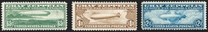 Sale Number 1206, Lot Number 675, Air Post, continued (C13-C23a)65c-$2.60 Graf Zeppelin (C13-C15), 65c-$2.60 Graf Zeppelin (C13-C15)
