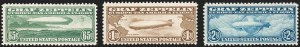 Sale Number 1206, Lot Number 676, Air Post, continued (C13-C23a)65c-$2.60 Graf Zeppelin (C13-C15), 65c-$2.60 Graf Zeppelin (C13-C15)
