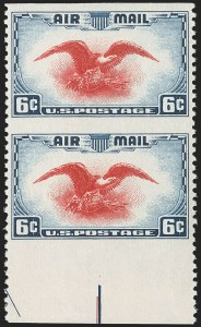 Sale Number 1206, Lot Number 685, Air Post, continued (C13-C23a)6c Dark Blue & Carmine, Vertical Pair, Imperforate Horizontally (C23a), 6c Dark Blue & Carmine, Vertical Pair, Imperforate Horizontally (C23a)
