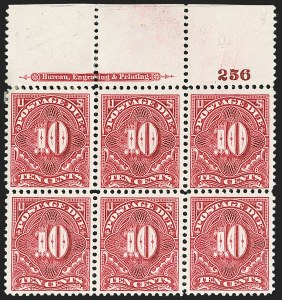 Sale Number 1206, Lot Number 705, Postage Due10c Deep Claret (J42), 10c Deep Claret (J42)
