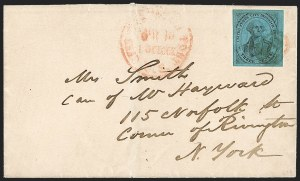 Sale Number 1206, Lot Number 749, Carriers and LocalsU.S. City Despatch Post, New York N.Y., 3c Black on Blue Glazed (6LB5b), U.S. City Despatch Post, New York N.Y., 3c Black on Blue Glazed (6LB5b)